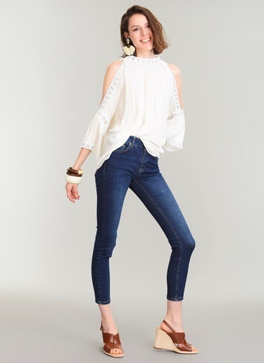 People By Fabrika Skinny Jean Pantolon Mavi